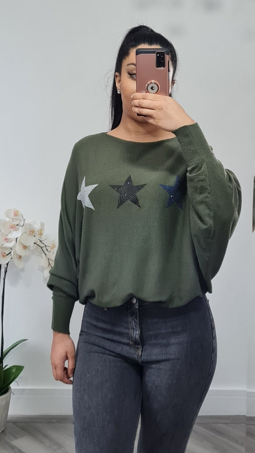 Three star jumper super soft