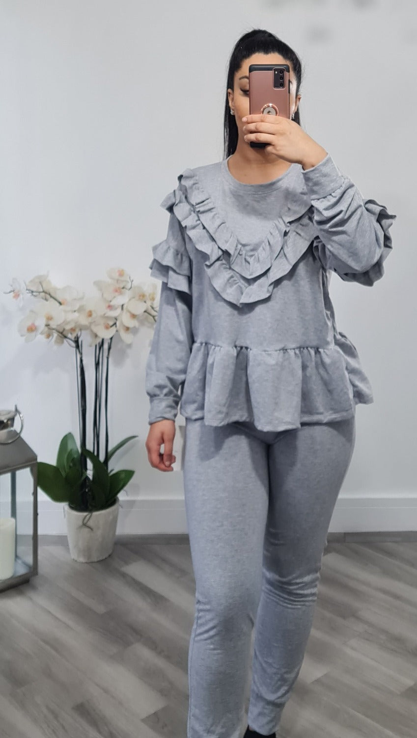 Frill detail loungewear set