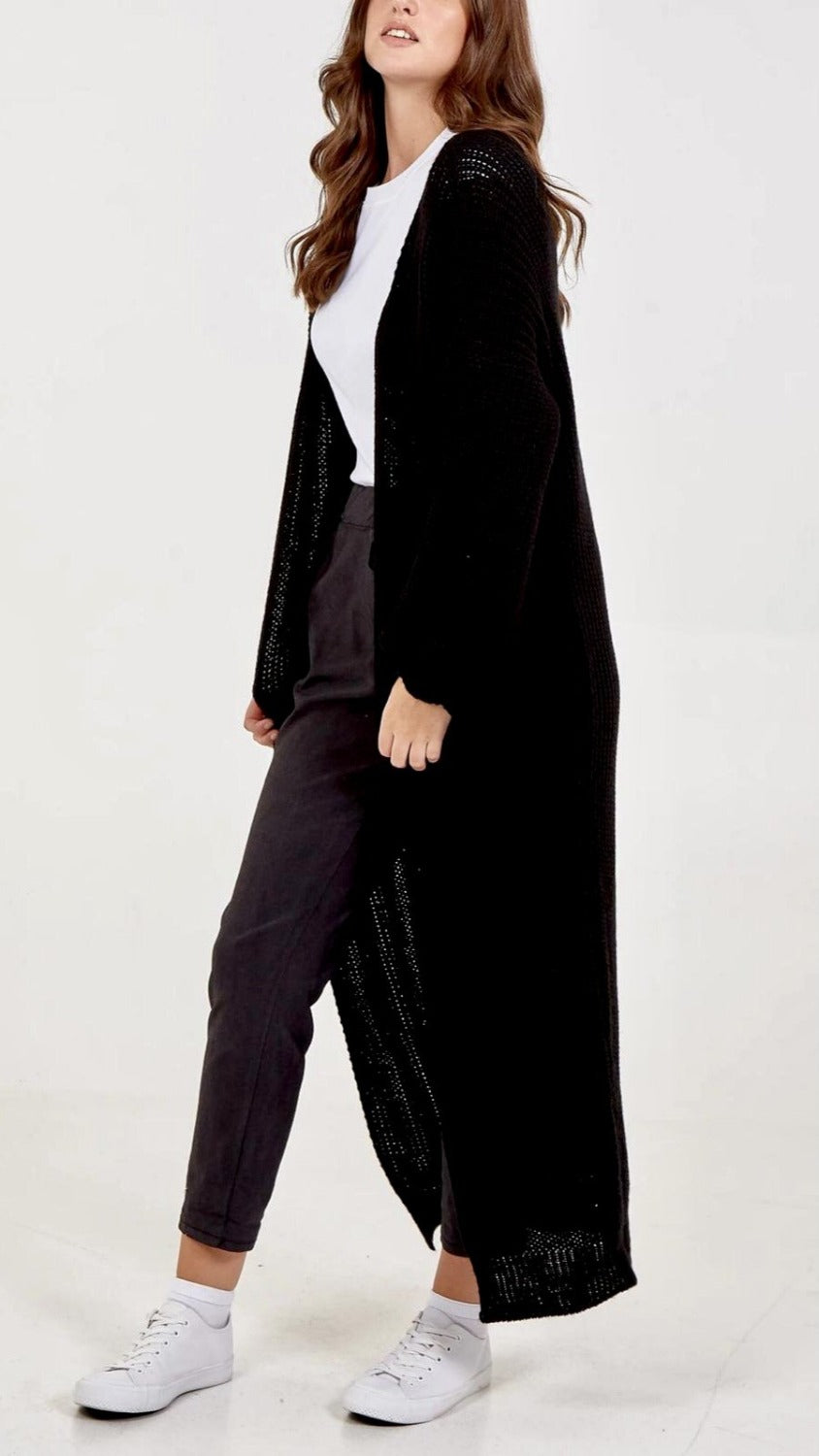 Edge To Edge Long Cardigan