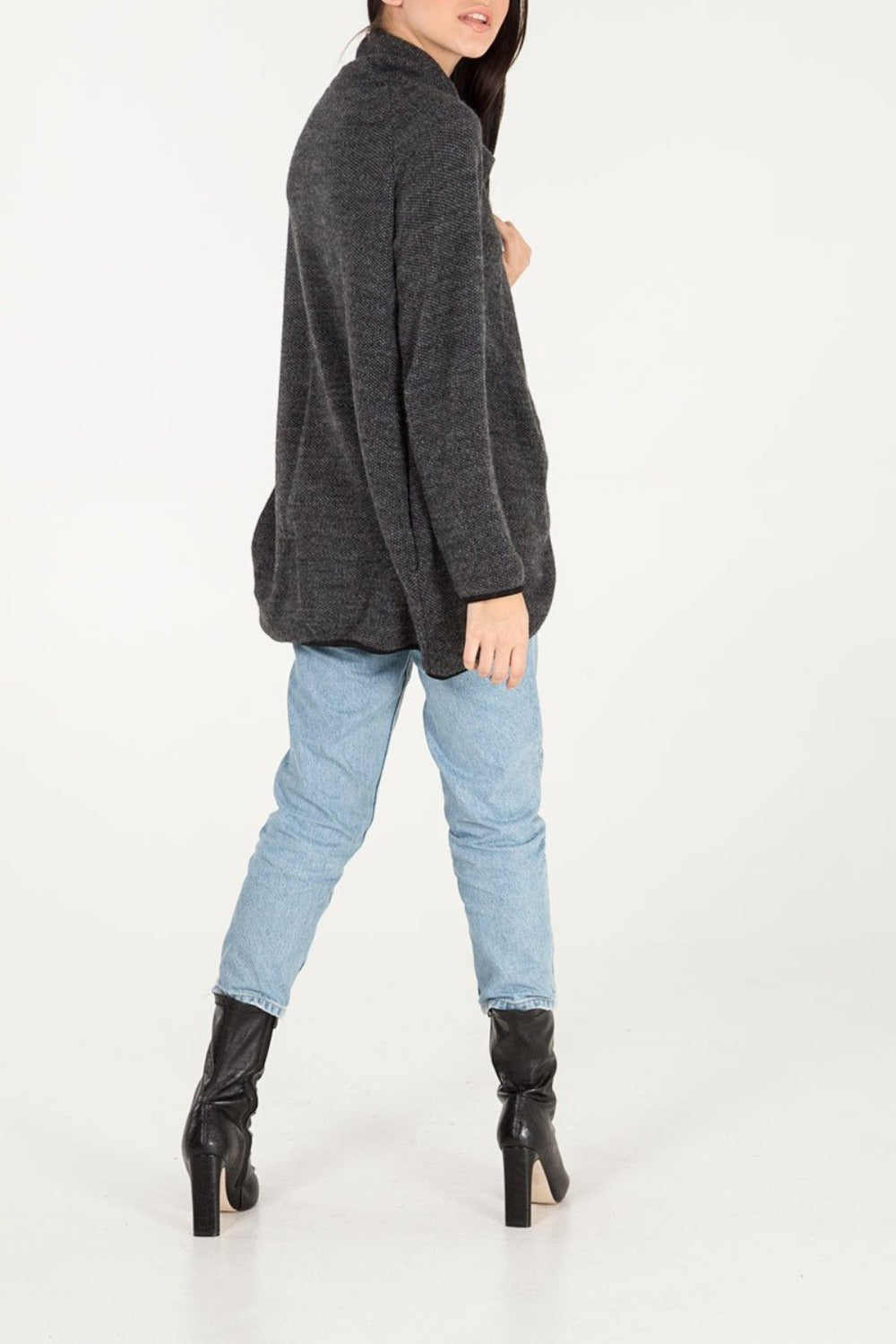 Zip Front Asymmetric Jacket