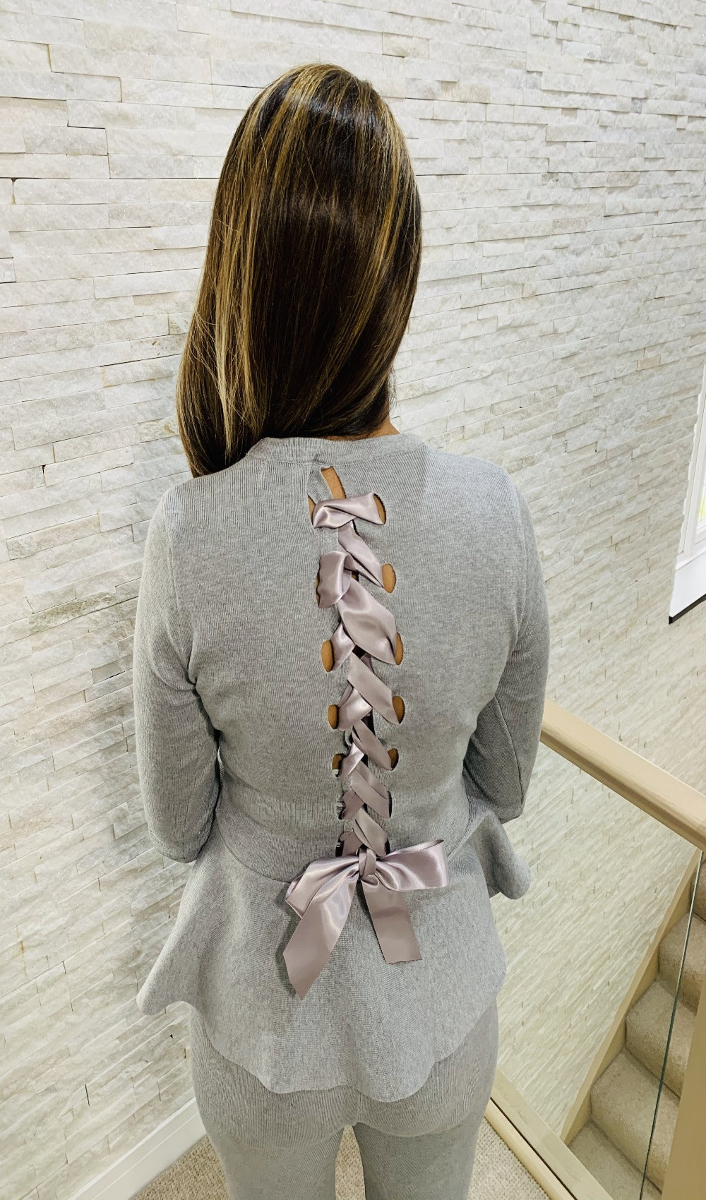 Ribbon back detail loungewear