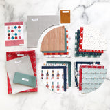 Retro Ornaments Wall Hanging Pre-Cut Quilt Kit by Lo & Behold Stitchery