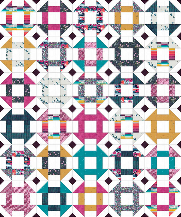 Churn Dash Mix-Up Lap Pre-Cut Quilt Kit
