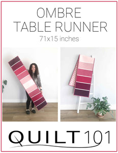 Ombre Table Runner Digital Pattern