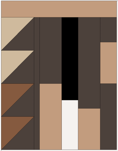 Color of Connection Pre-Cut Quilt Kit: Skin Tone