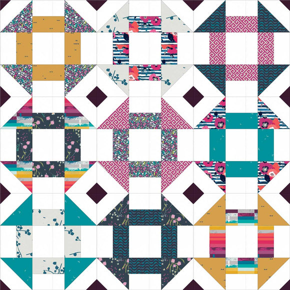 Churn Dash Mix-Up Baby Pre-Cut Quilt Kit