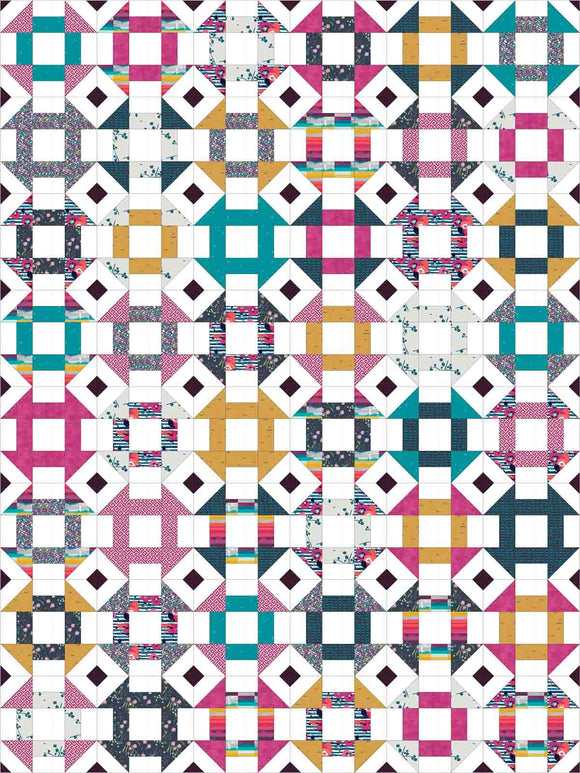 Churn Dash Mix-Up Twin Pre-Cut Quilt Kit