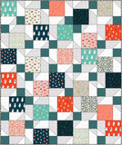 Twisted Nine Half Squared Lap Pre-Cut Quilt Kit