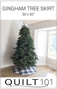 Gingham Tree Skirt Digital Pattern
