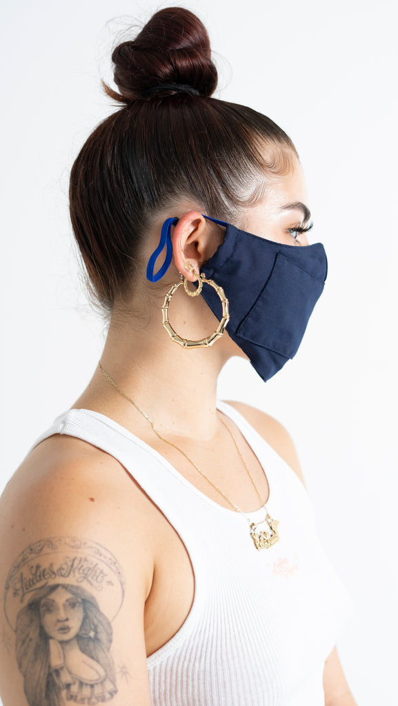 Flexible Navy Mask
