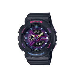 Casio Baby-G BA-110TM-1ADR Analog Digital Black Resin Strap Watch For Women