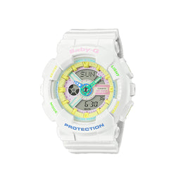 Casio Baby-G BA-110TM-7ADR Analog Digital White Resin Strap Watch For Women