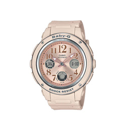 Casio Baby-G Women's Pink Beige AnaDigi BGA-150CP-4BDR Resin Strap Watch
