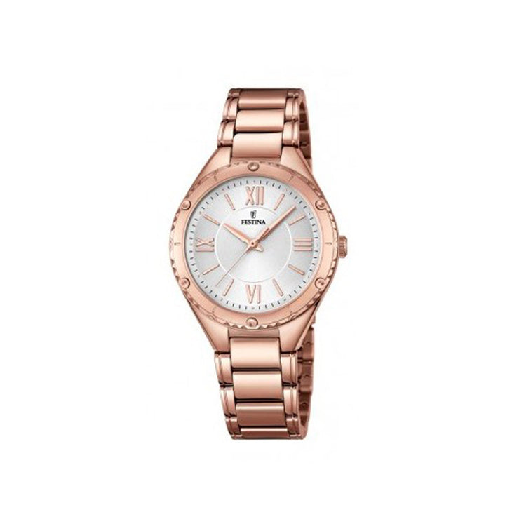 Festina F16922/1 Analog Gold Stainless Steel Strap Watch For Women
