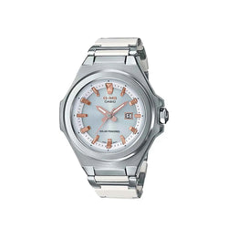 Casio Baby-G Women's White/Silver Analog MSG-S500CD-7ADR Stainless Steel/Resin Strap Watch