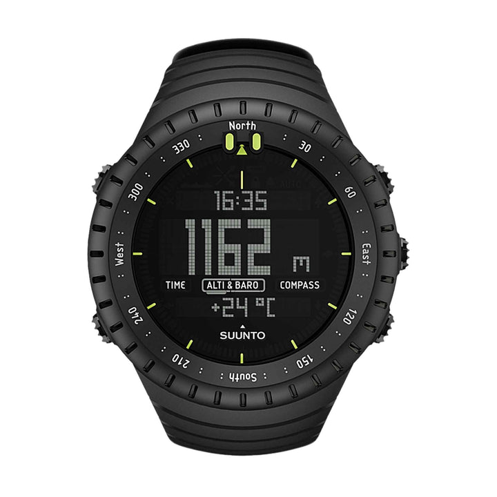 Suunto Core All Black Smartwatch SS014279010 Elastomer Strap Watch