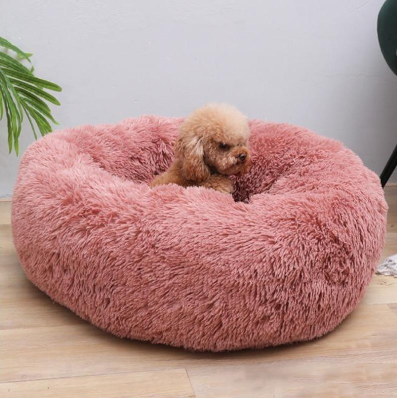 Pink Griffin Dog Bed