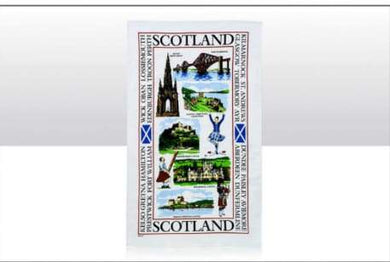 Sights Of Scotland Tea Towel - Living Stone Gifts