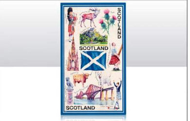 Scotland Iconic Tea Towel - Living Stone Gifts