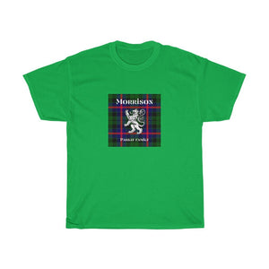 Clan Morrison Scottish Tartan Unisex Heavy Cotton T-Shirt