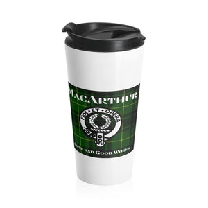 MacArthur Scottish Tartan Stainless Steel Travel Mug