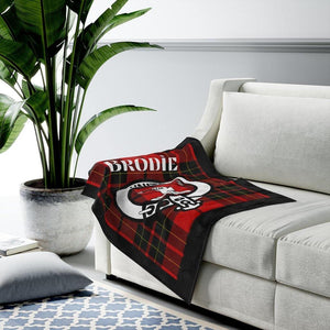 Clan Brodie Scottish Tartan Plush Blanket
