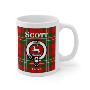 Clan Scott Scottish White Ceramic Mug