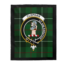Load image into Gallery viewer, Clan Clephan Scottish Tartan Crest Blanket