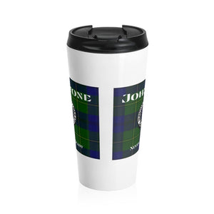 Clan Johnstone Scottish Stainless Steel Travel Mug
