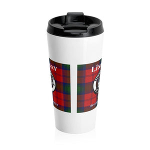 Clan Lindsay Scottish Tartan Stainless Steel Travel Mug