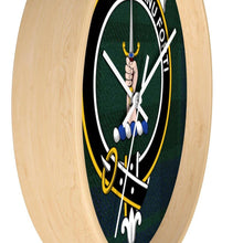 Load image into Gallery viewer, Clan MacKay Scottish Tartan Wall Clock