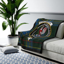 Load image into Gallery viewer, Clan Cockburn Scottish Tartan Crest Blanket