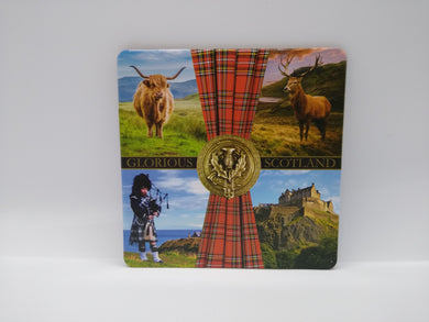 Glorious Scotland Set Of 8 Coasters - Living Stone Gifts