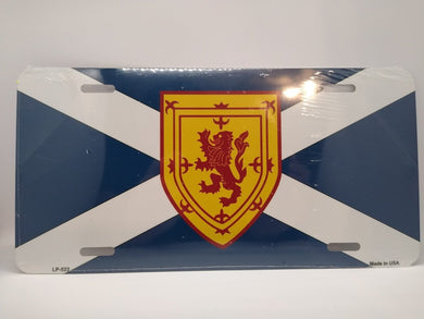 Scottish St Andrews/Lion Rampant Novelty Metal License Plate - Living Stone Gifts