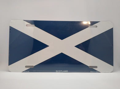 Scotland St Andrews Flag Novelty Metal License Plate - Living Stone Gifts