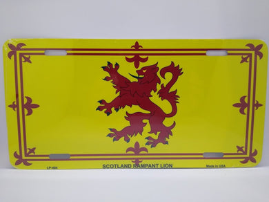 Scotland Lion Rampant Flag Metal Novelty License Plate - Living Stone Gifts