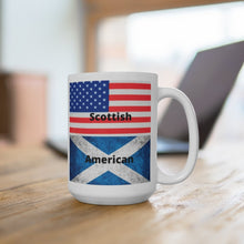 Load image into Gallery viewer, Scottish American White Ceramic Mug - Living Stone Gifts
