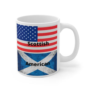 Scottish American White Ceramic Mug - Living Stone Gifts