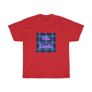Ma Darlin Scottish Tartan Unisex Heavy Cotton T-Shirt
