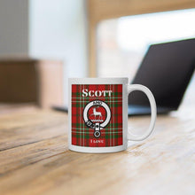 Load image into Gallery viewer, Clan Scott Scottish White Ceramic Mug