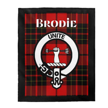 Load image into Gallery viewer, Clan Brodie Scottish Tartan Plush Blanket
