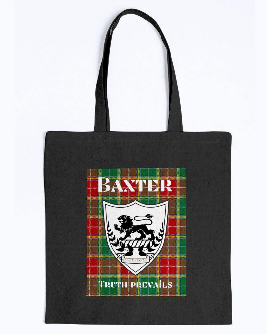 Clan Baxter Scottish Tartan & Crest Tote