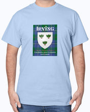 Load image into Gallery viewer, Clan Irving Scottish Tartan & Crest T-Shirt