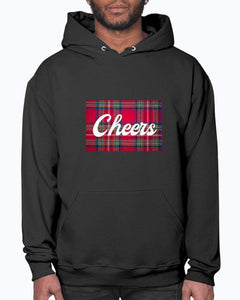 Cheers Scottish Tartan Jerzees 50/50 Hoodie