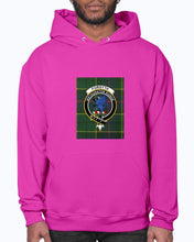Load image into Gallery viewer, Clan Forsyth Tartan & Crest Hoodie