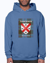 Load image into Gallery viewer, Clan Anderson Scottish Tartan & Crest Hoodie