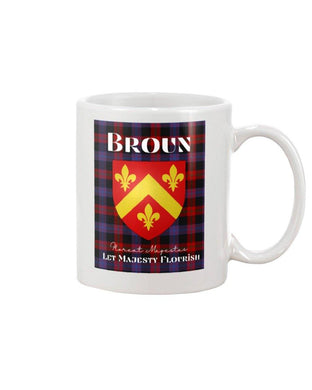 Clan Broun Scottish Tartan Mug
