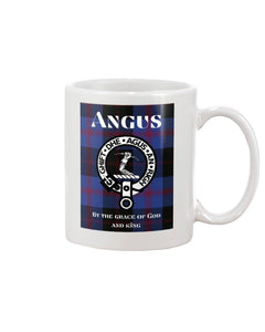 Clan Angus Scottish Tartan Mug
