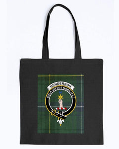 Clan Henderson Scottish Tartan & Crest Tote
