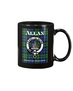 Clan Allan Scottish Tartan Mug